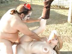 Big tits cowgirl hard outdoor fucking