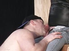 Filthy cock eating horny pig daddies stretching throats hard