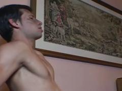 Sexy guy fucked hard bareback.
