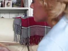 Milf mature lesbian seduces a young girl