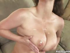 Sara stone & her huge tits bouncing in rhytm to her cunt being drilled