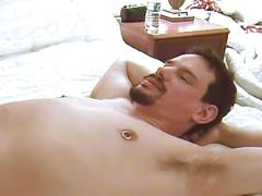 Two horny dudes having sex in the bedroom