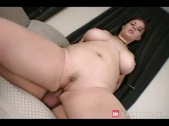 Chubby brunette tourist gets a nice hard pounding