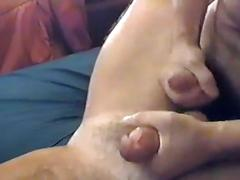 Hot dudes jerking off their own cock
