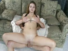 Lovely blonde drilled by a huge cock