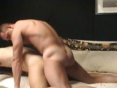 Amateur muscled daddy fuckers joined forces in sizzling hot anal