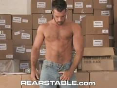Hardcore gay anal fucking in the warehouse