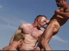 Awesome muscled studs sizzling hot group orgy adventure