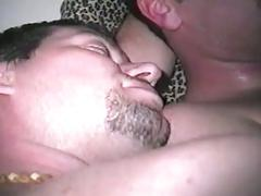 Spicy amateur studs enjoying sleazy threesome anal hammering