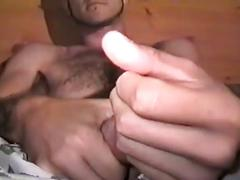Homemade amateur cock stroking and ass fingering