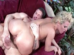 Massive tits blonde babe outdoor ass drilling