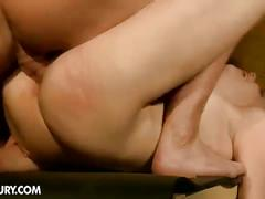 Tied up bitch jenny noel struggles for some cock