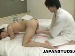 Japanese masseur finger fucks horny teens