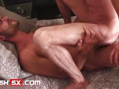 Flirty muscled studs issac jones and jake reed pumping hardcore