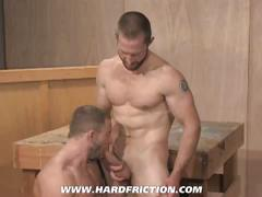 Hot anal rimming and drilling with horny muscular gays
