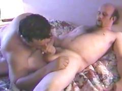 Amateur dong eating lewd daddies enjoying fervent anal pumping