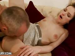 Ann marie gets rammed with an old cock