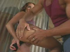 Farmhand slut loves to suck cock and fuck hard