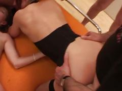 Fuck loving sweet babes enjoying hardcore gang banging fun