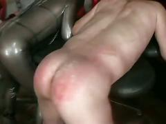 bdsm, femdom, bondage, brown hair, chick, female domination, mistress, slave, strapon, strapon fuck