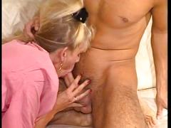 Blonde milf gets stuffed in all holes