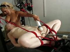 Young pussy gets fuck in bdsm scene
