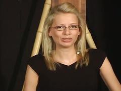 Amateur blonde abused in hot bdsm