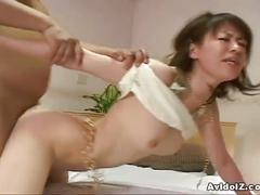 Cute japanese petite babe blowjob and hardcore sex action
