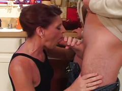 big dick, brunette, hardcore, milf, old & young, big cock, brown hair, doggy style, missionary, old woman young man, stepmom