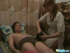 Homemade blowjob treatment with a horny nurse!