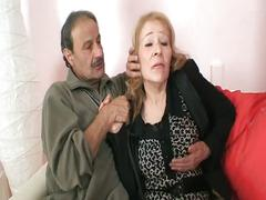 Horny old couple gets help from young bitch