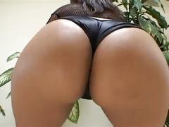 Ebony slut fucked by two massive cocks