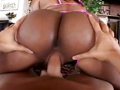 Nasty ebony babe ass drilled hardcore