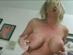 Busty blonde milf gets younger cock to fuck