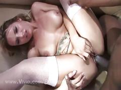 Savanna samson rough rides two big black cocks
