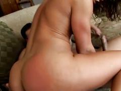 Hot ass babe latina naomi fucks two cocks
