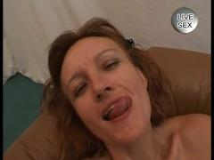 Horny redhead milf double penetrated in hot foursome