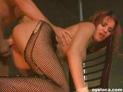 Busty latina stripper fucks her customer