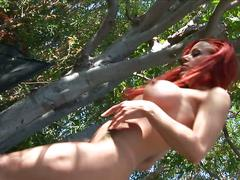 Redhead milf drilled in the ass