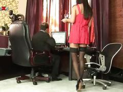 anal, big dick, brunette, hardcore, office sex, stockings, anal sex, assfucking, big cock, brown hair, doggy style, gaping hole, pantyhose, rough fuck, tights