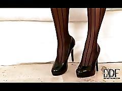 Victoria blaze - panthose masturbation