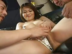 Pretty japanese girl's sexy cunt creampied