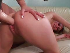 Massive tits collide as blonde lesbian milf plays with hot slut