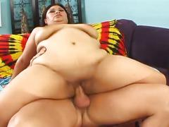 Greasy fat asian slut for huge cock drilling