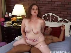 Cute chubby redhead in stockings loves to fuck