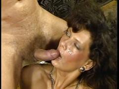 Hot brunette babe picks up cock at the bar
