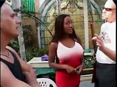 2 nazi's gangbang a sexy black chick