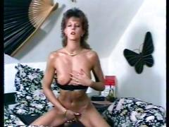 Kinky milf masturbates and uses big toy dick