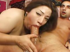 Fat chick with natural monster boobs fucked hard