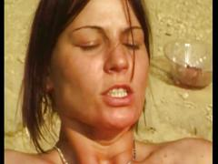 Two girls hardcore fuck outdoors in free video